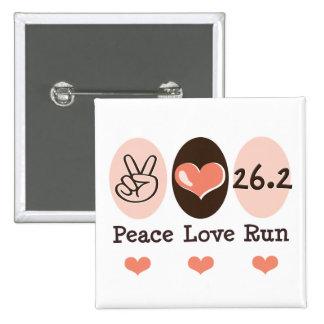 El amor de la paz funciona con el botón de 26,2 pin cuadrado