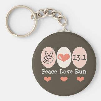 El amor de la paz funciona con el medio llavero de