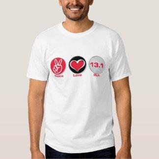 El amor de la paz funciona con el Mitad-Maratón Playeras