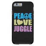 El amor de la paz hace juegos malabares funda de iPhone 6 tough