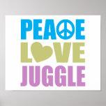 El amor de la paz hace juegos malabares poster
