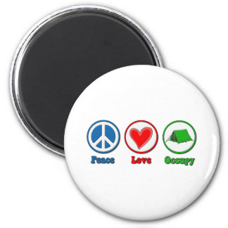 El amor de la paz ocupa iman de nevera