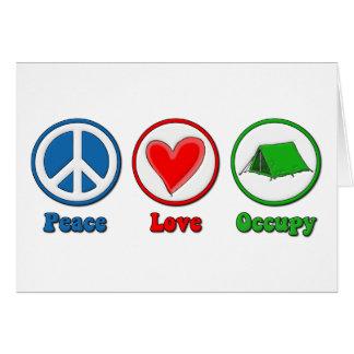 El amor de la paz ocupa felicitaciones