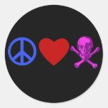 El amor de la paz piratea las camisetas, tazas, re etiquetas