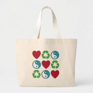 El amor de la paz recicla bolsas