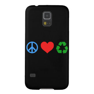 El amor de la paz recicla fundas para galaxy s5