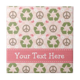 El amor de la paz recicla la baldosa cerámica Triv Azulejo Cuadrado Pequeño