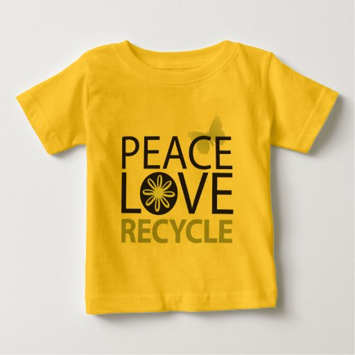 El amor de la paz recicla polera