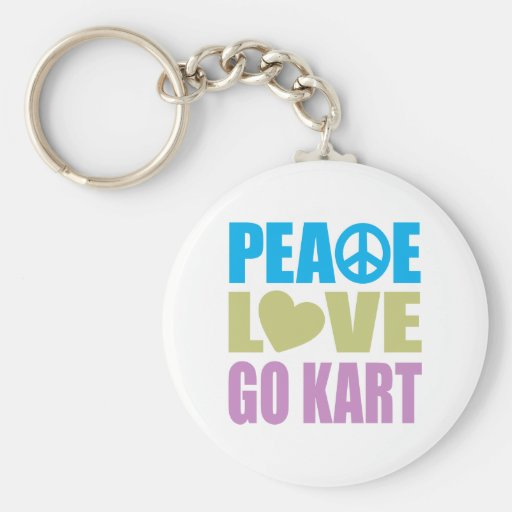 El amor de la paz va Kart Llavero Redondo Tipo Pin