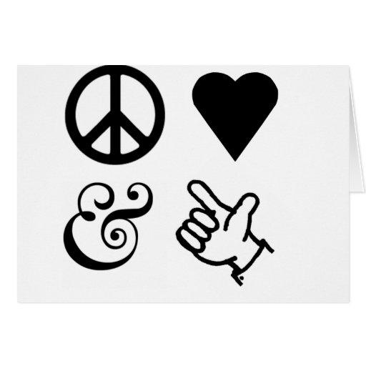 El amor de la paz y consigue sus armas para arriba tarjeta