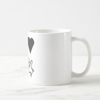 El amor de la paz y consigue sus armas para arriba tazas de café