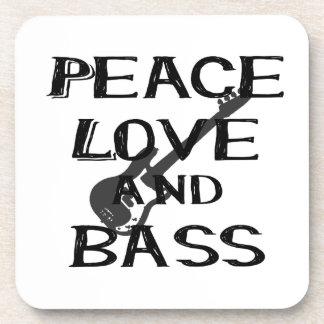 el amor de la paz y el bernice del bajo ennegrecen posavasos