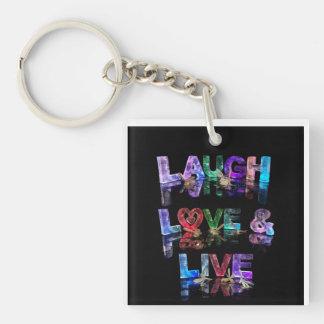 El amor de la risa y vive llaveros