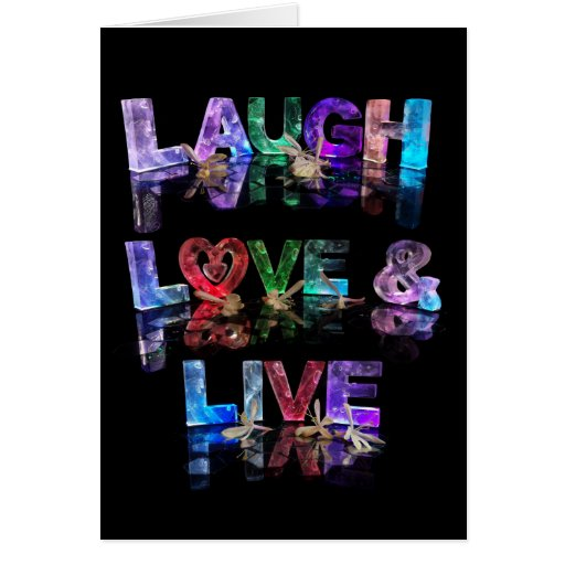 El amor de la risa y vive tarjetón