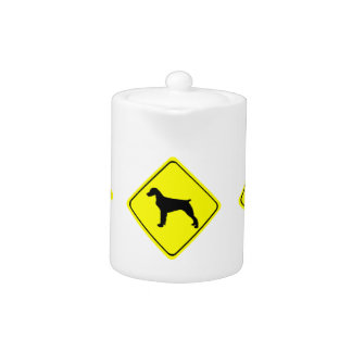 El amor de la señal de peligro del perro de aguas