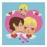 El amor de la tarjeta del día de San Valentín Poster