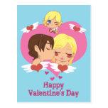 El amor de la tarjeta del día de San Valentín Postal