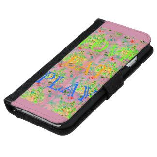 El amor de las Felices Navidad come los colores de Funda Cartera Para iPhone 6