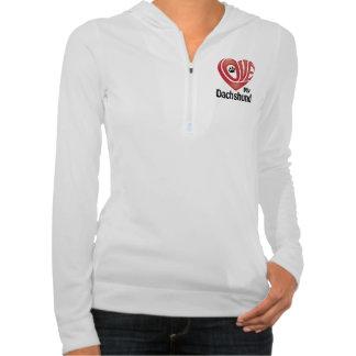El amor de las mujeres de la camiseta mi Dachshund Suéter Con Capucha