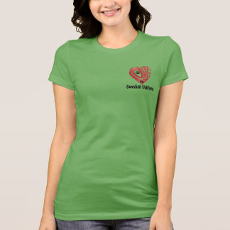 El amor de las mujeres de la camiseta mi Vallhund  Poleras