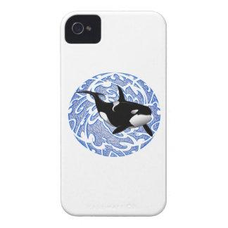 EL AMOR DE LAS ORCAS Case-Mate iPhone 4 COBERTURA