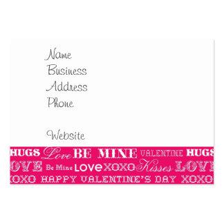 El amor de las rosas fuertes XOXO sea el mío el Tarjetas De Visita Grandes