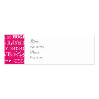 El amor de las rosas fuertes XOXO sea el mío el Tarjetas De Visita Mini