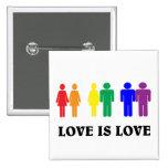 El amor de LGBT es amor Pin Cuadrado
