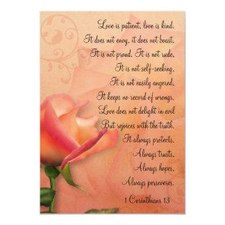 """El amor de los Corinthians 13 del KRW 1 es Invitación 5"""" X 7"""""""