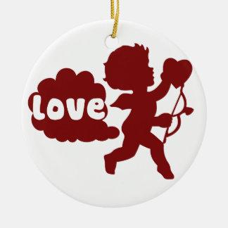 El amor de los Cupids Fart Adorno De Navidad