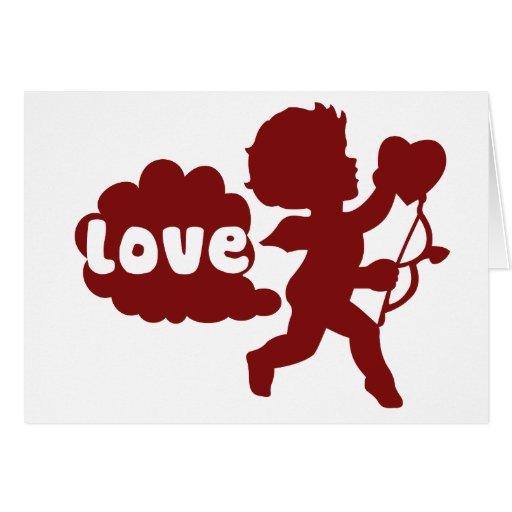 El amor de los Cupids Fart Felicitaciones