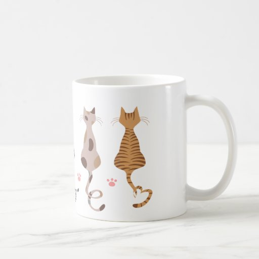 El amor de los gatos ata la taza