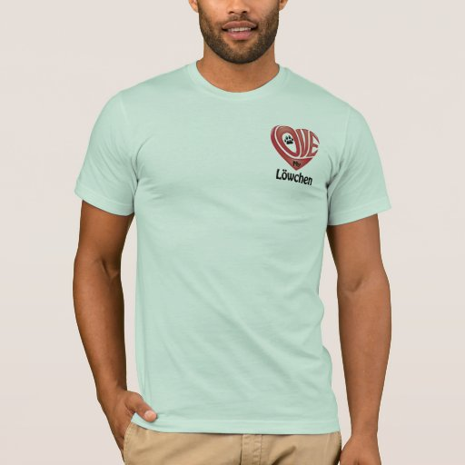 El amor de los hombres de la camiseta mi Löwchen