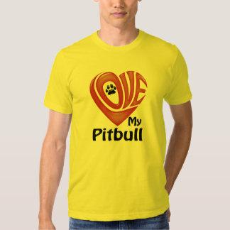 El amor de los hombres de la camiseta mi Pitbull Playera