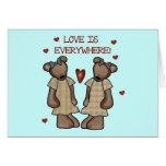 El amor de los osos está por todas partes las cami felicitacion