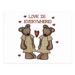 El amor de los osos está por todas partes las postal