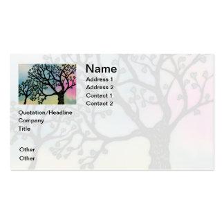 El amor de madre - árboles en la vitela y la acuar tarjetas de visita