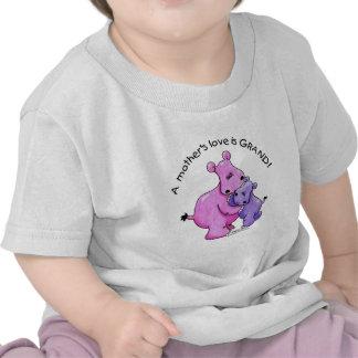 ¡El amor de madre de los Hipopótamos-UNo es magníf Camisetas