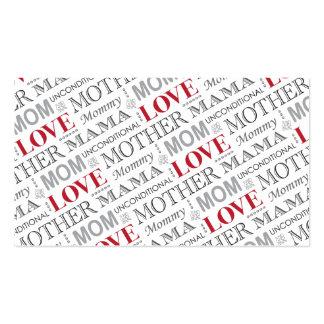 El amor de madre, el día de madre o modelo del cum tarjeta de negocio