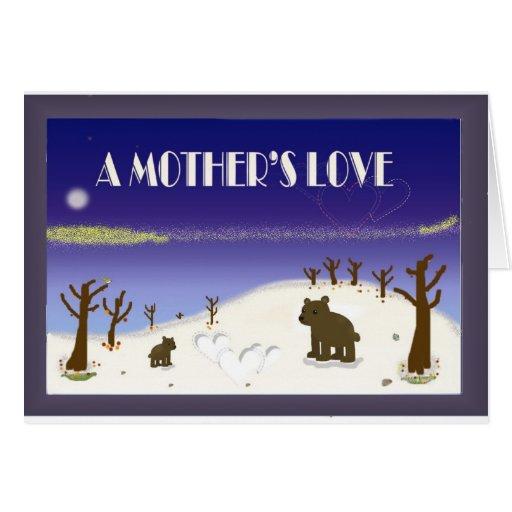 El amor de madre tarjeta de felicitación