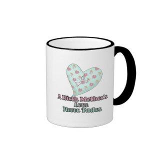 El amor de madres de nacimiento nunca se descolora tazas de café