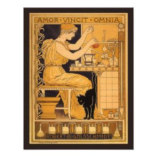 El amor de Nouveau del arte del vintage conquista Anuncio