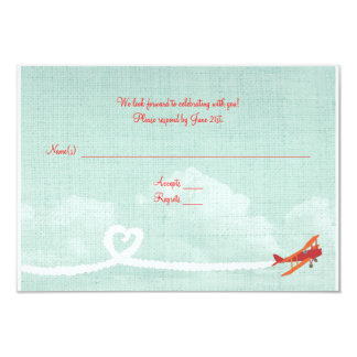 """El amor de RSVP de la postal está en el aire Invitación 3.5"""" X 5"""""""