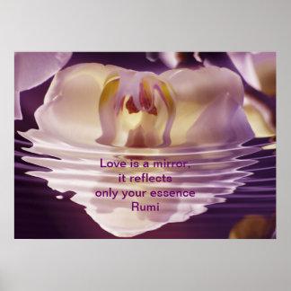 El amor de Rumi es un espejo Póster