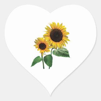El amor de una mamá del girasol calcomanía de corazón personalizadas
