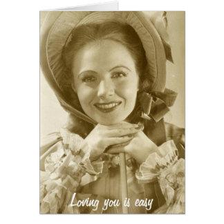 El amor de usted es easy~but que tiene gusto de us tarjeta de felicitación