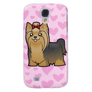 El amor de Yorkshire Terrier (pelo largo) añade un Funda Para Galaxy S4