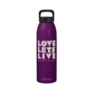 El amor deja vivo/Abort73.com Botella De Agua Reutilizable