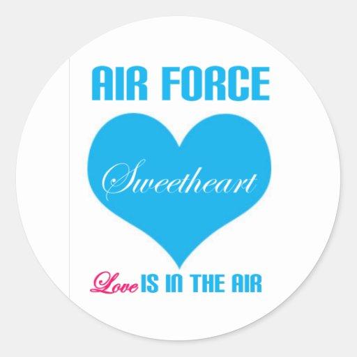 El amor del amor de la fuerza aérea está en el air etiquetas