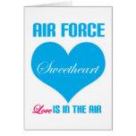 El amor del amor de la fuerza aérea está en el air tarjetas